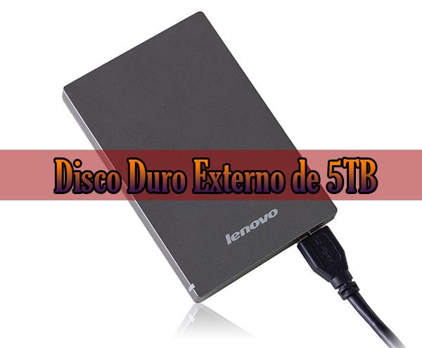 Disco duro externo de 5tb